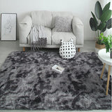 Water Absorption Carpet Rugs Rainbow Carpet Tie Dyeing Plush Soft Carpets for Living Room Anti-slip Floor Mats Bedroom