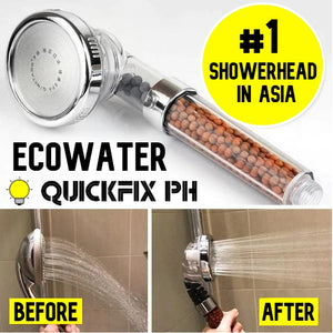ECOWATER - NATURAL ION HIGH PRESSURE SHOWER (PREMIUM QUALITY)