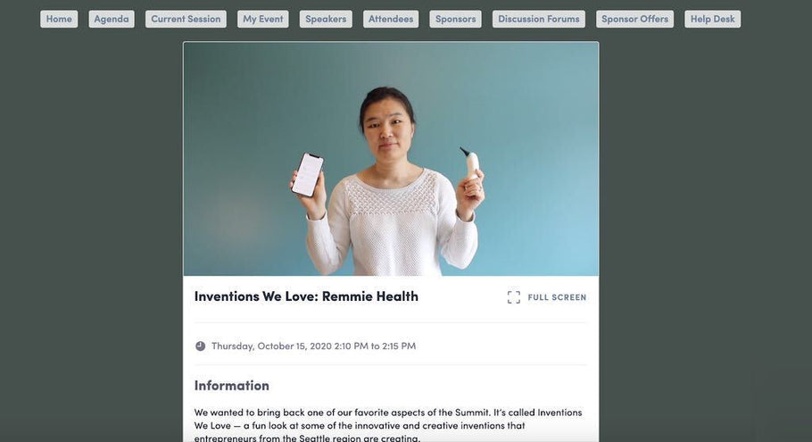 Remmie Health's CEO Jane Zhang Presented at GeekWire's Summit Ahead of Bill Gates' Session