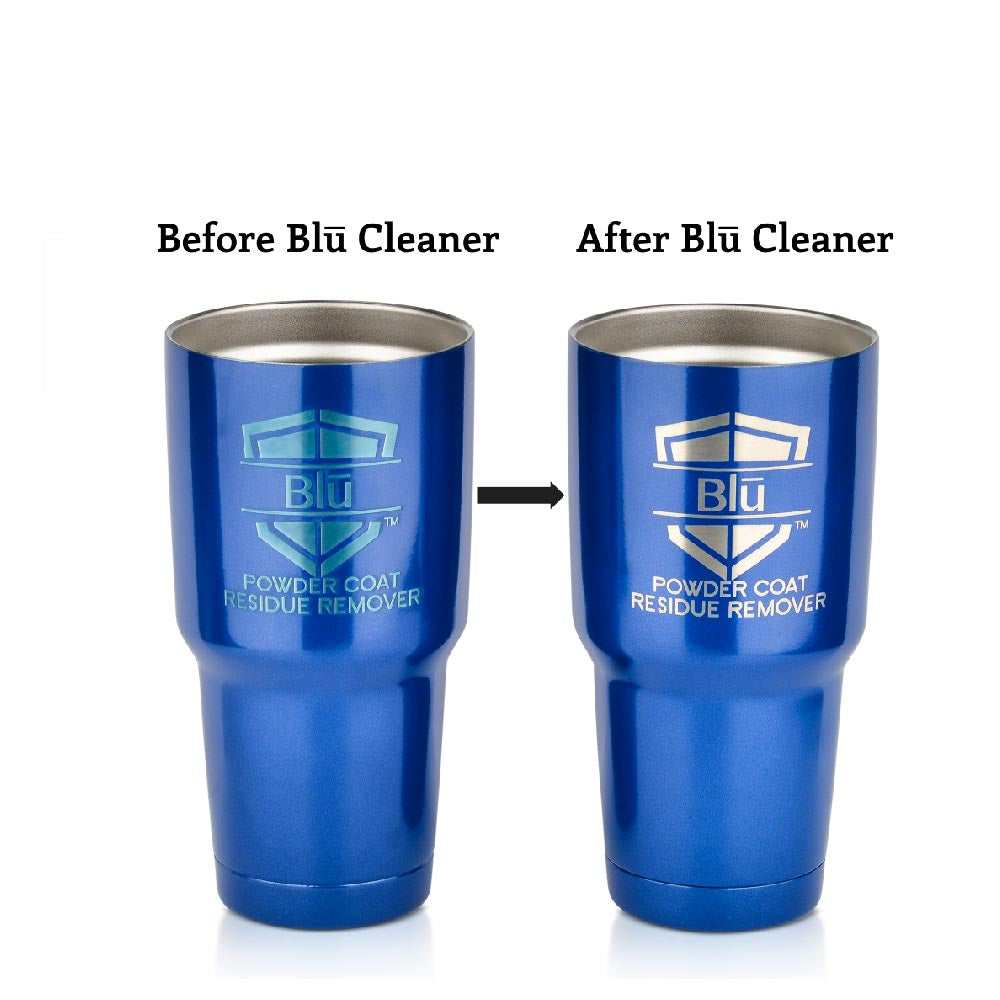 Blū: Improved Cleaner For Post Lasering Powder Coat Residue