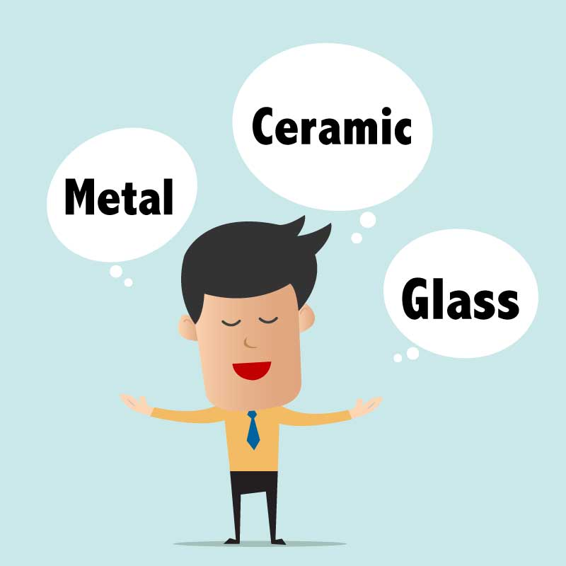 Metal, Glass, Ceramics, Oh My! What You Should Know About Working with Each Material