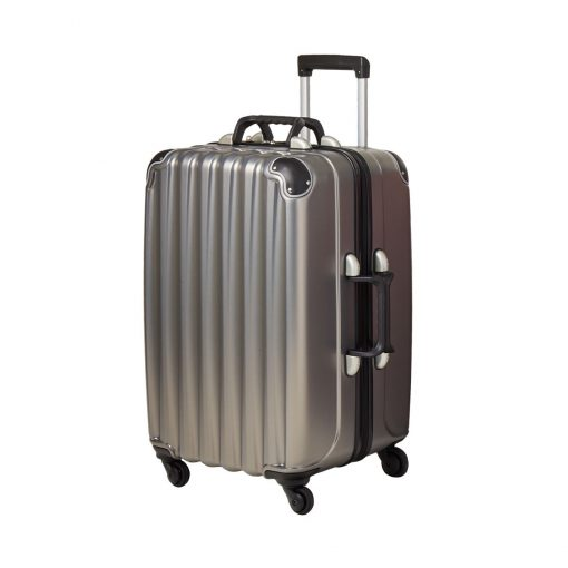 Silver 12 Bottle Wine Suitcase