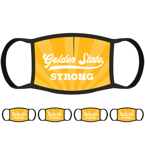 Golden State Strong CA Face Mask (5-Pack) - State Mask Supply