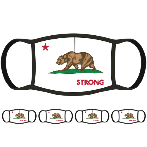 California Flag Face Mask (5-Pack) - State Mask Supply Mask Up