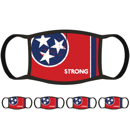 Tennessee Flag Face Mask (5-Pack) - State Mask Supply Mask Up