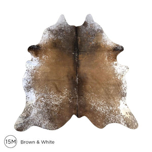 Premium Cowhide - Brown & White No. 15M
