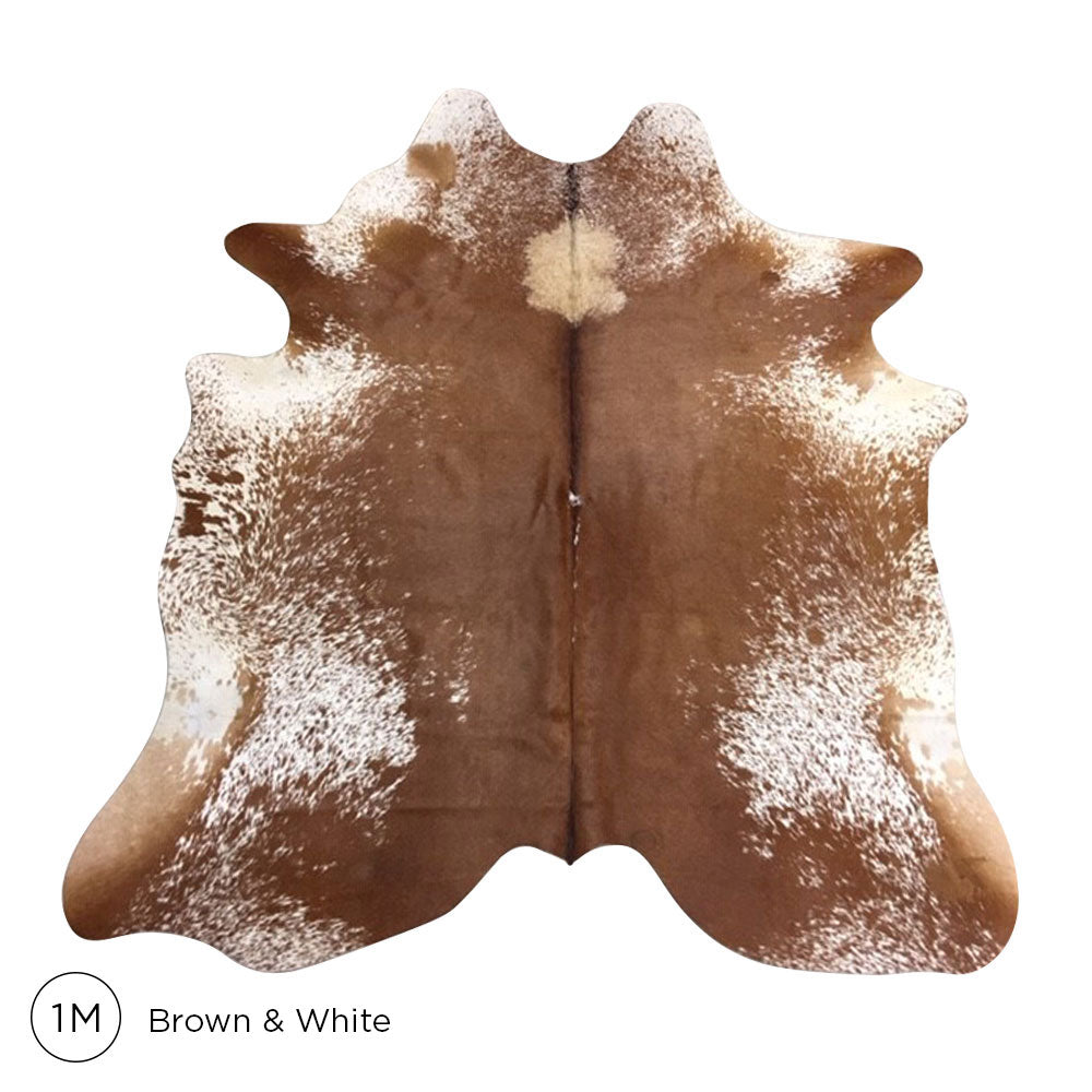Premium Cowhide - Brown & White No. 1M