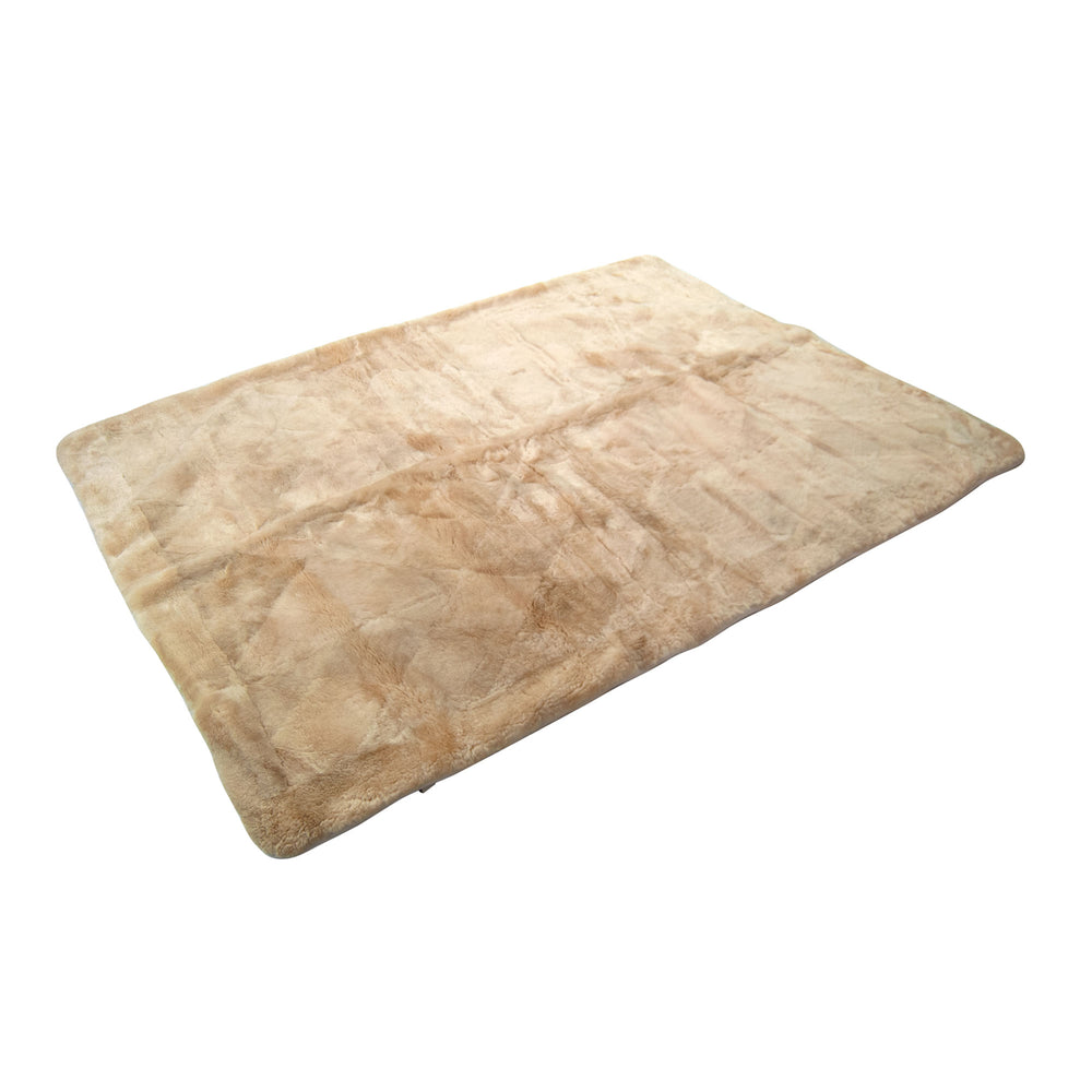 Load image into Gallery viewer, Real Sheepskin Underlay Champagne Area Rug/Lambskin Underlay - Short Dense Fibre 27mm 150 cm x 200 cm No. 34