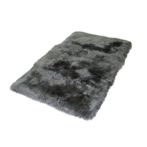 Dover Grey Area Rug- Long Wool Soft Fibre Canvas Quilted Polyester Backing No. 40
