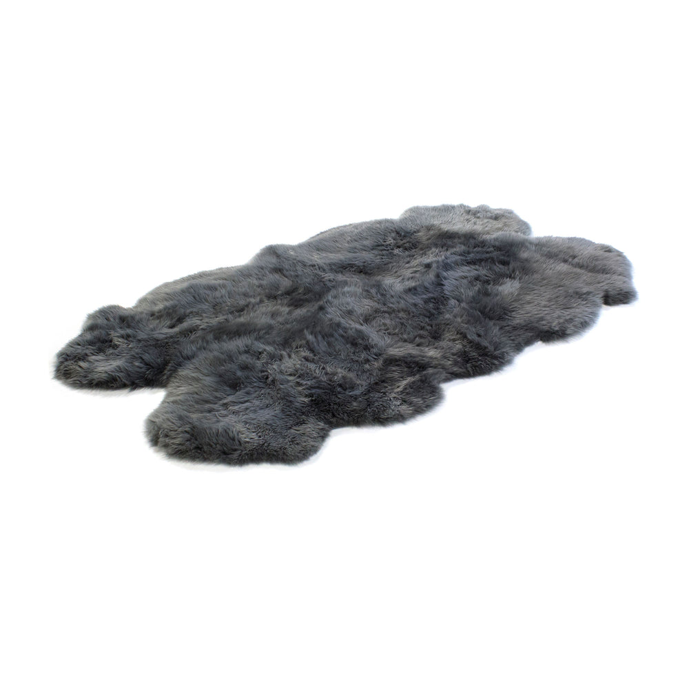Four Piece Longwool Sheepskin Rug - Dover Grey
