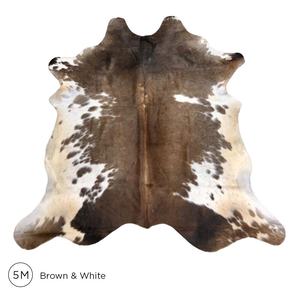 Premium Cowhide - Brown & White No. 5M