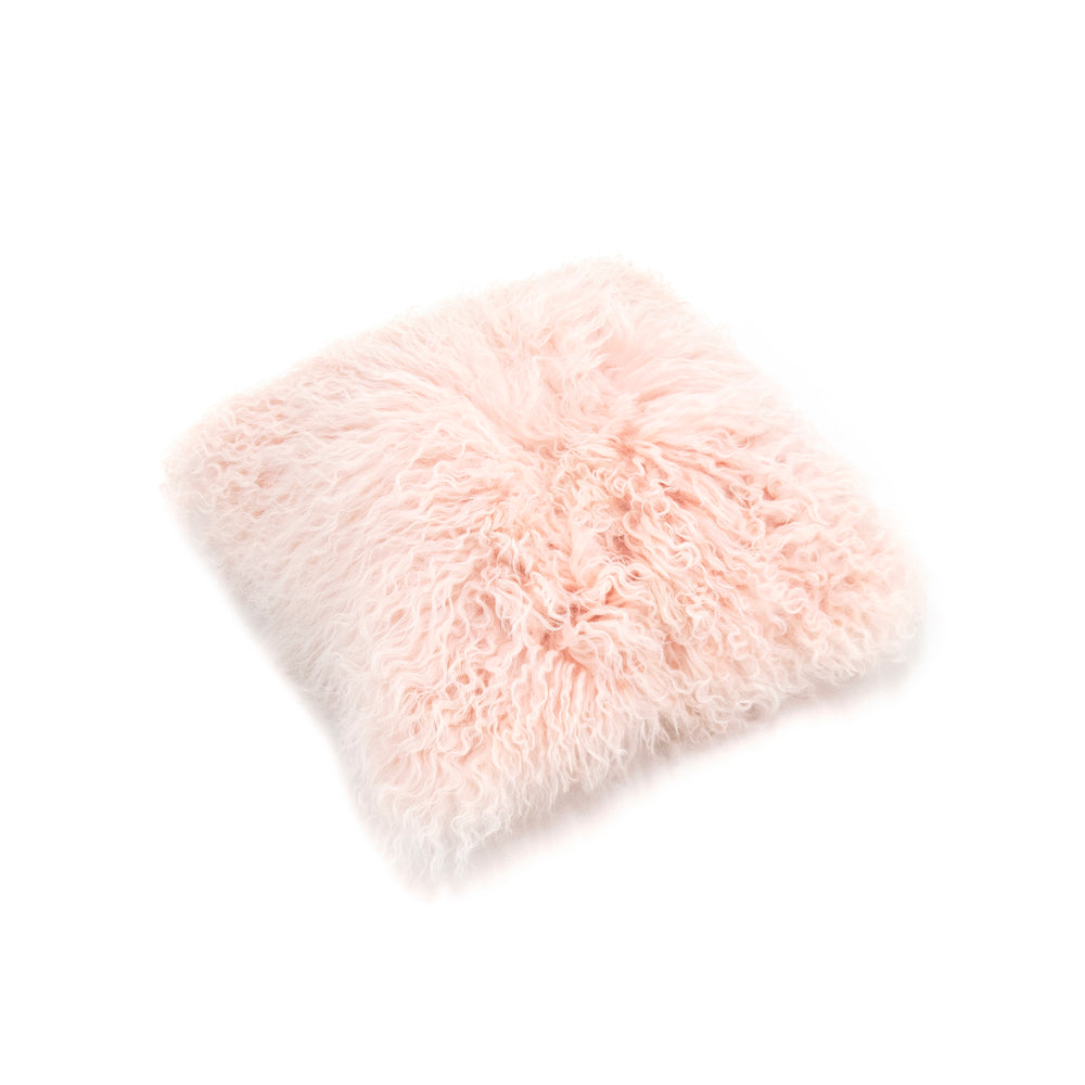 Load image into Gallery viewer, Tibetan Lamb Cushion Cover - Baby Pink