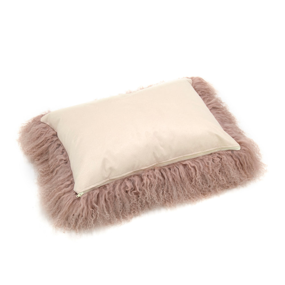 Load image into Gallery viewer, Tibetan Lamb Cushion Cover - Camel
