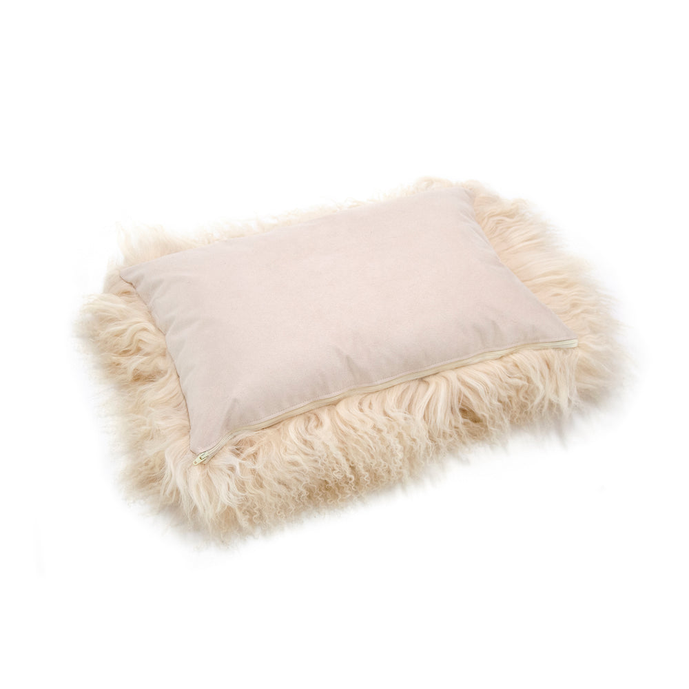 Load image into Gallery viewer, Tibetan Lamb Cushion Cover - Champagne