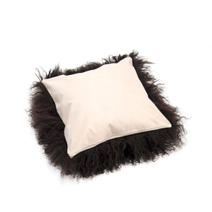 Load image into Gallery viewer, Tibetan Lamb Cushion Cover - Cocoa