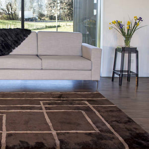 Load image into Gallery viewer, Corners Shortwool Design Rug - Java/Mocha
