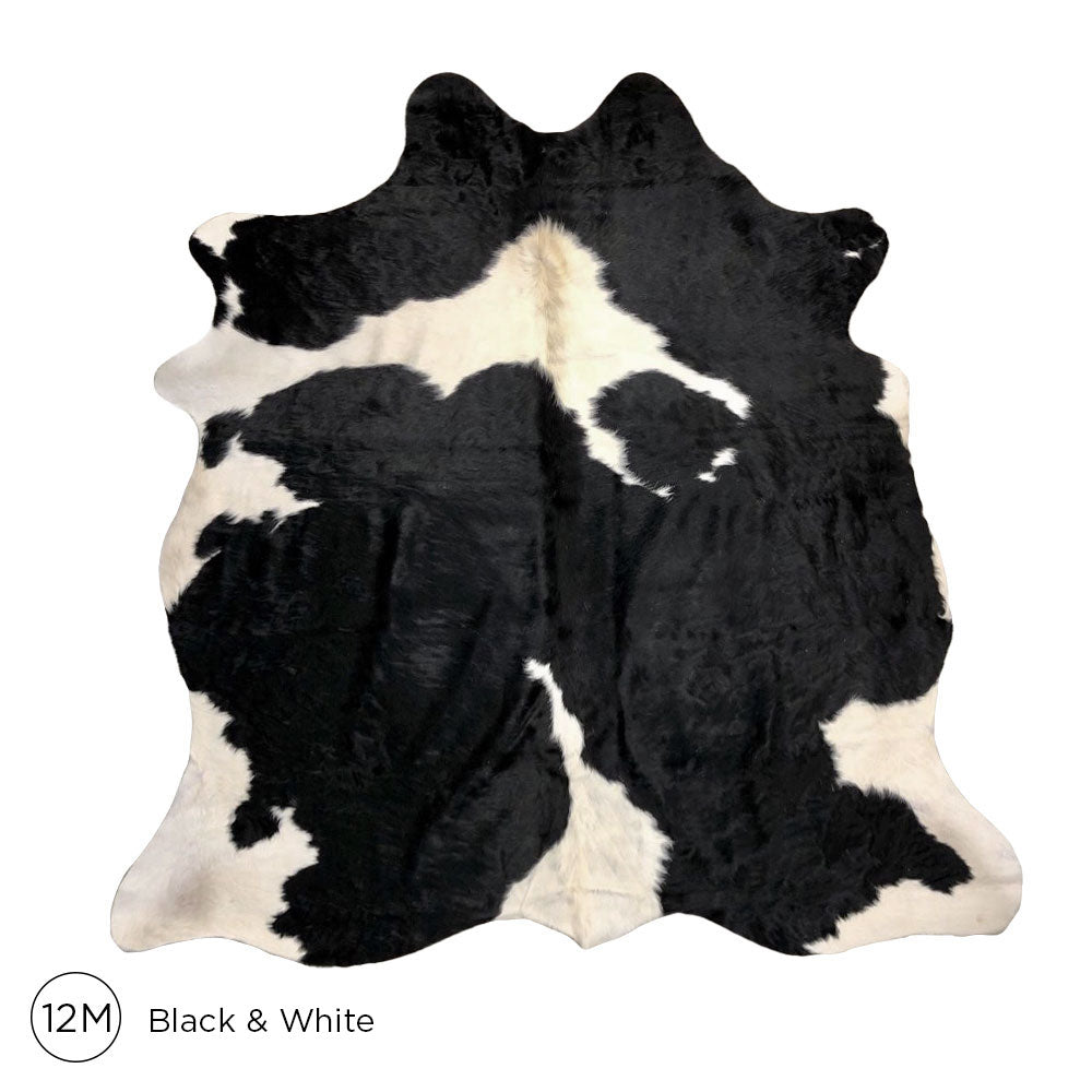 Load image into Gallery viewer, Premium Cowhide - Black & White No. 12M 160120