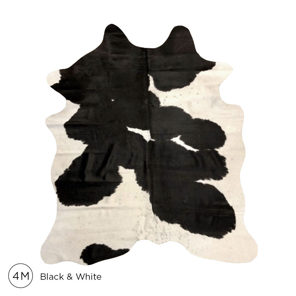 Premium Cowhide - Black & White No. 4M 160120