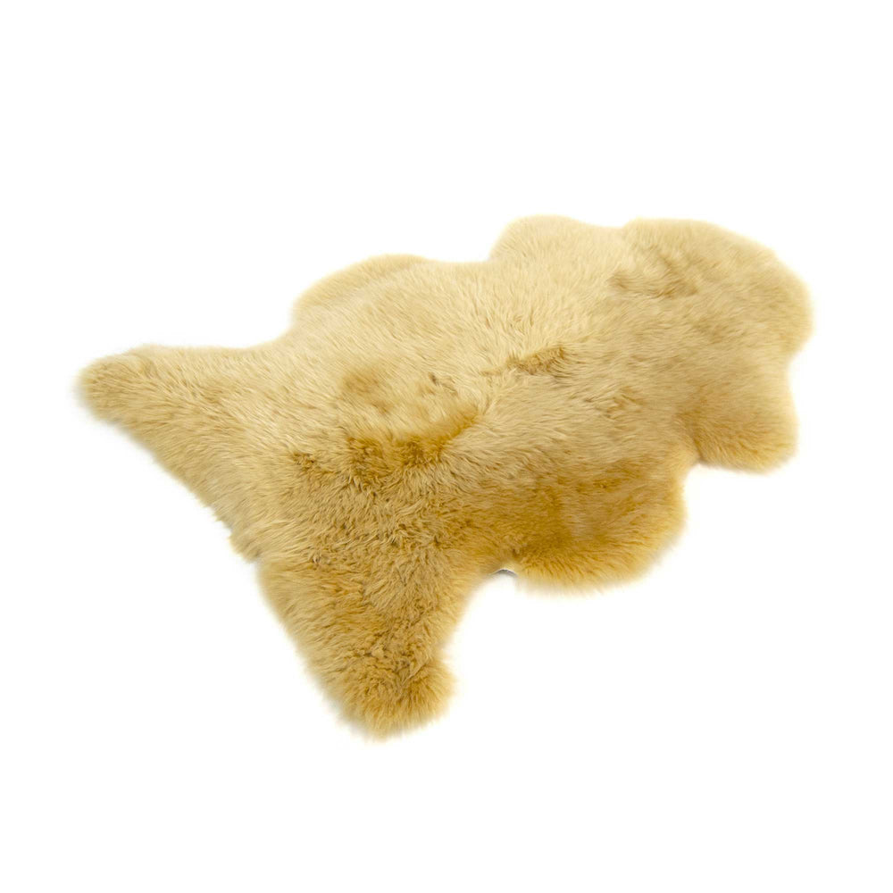 One Piece Longwool Sheepskin Rug - Squash