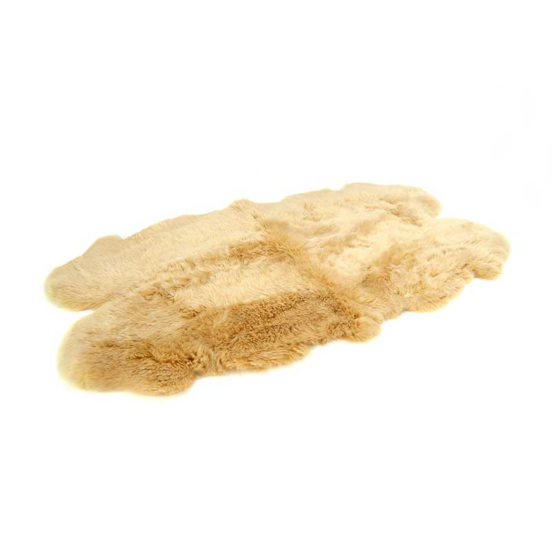 Four Piece Longwool Sheepskin Rug - Squash
