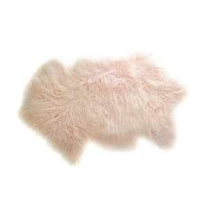 Load image into Gallery viewer, Tibetan Lamb Rug - Baby Pink