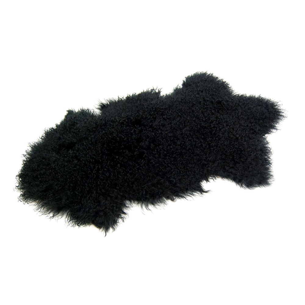 Load image into Gallery viewer, Tibetan Lamb Rug - Black