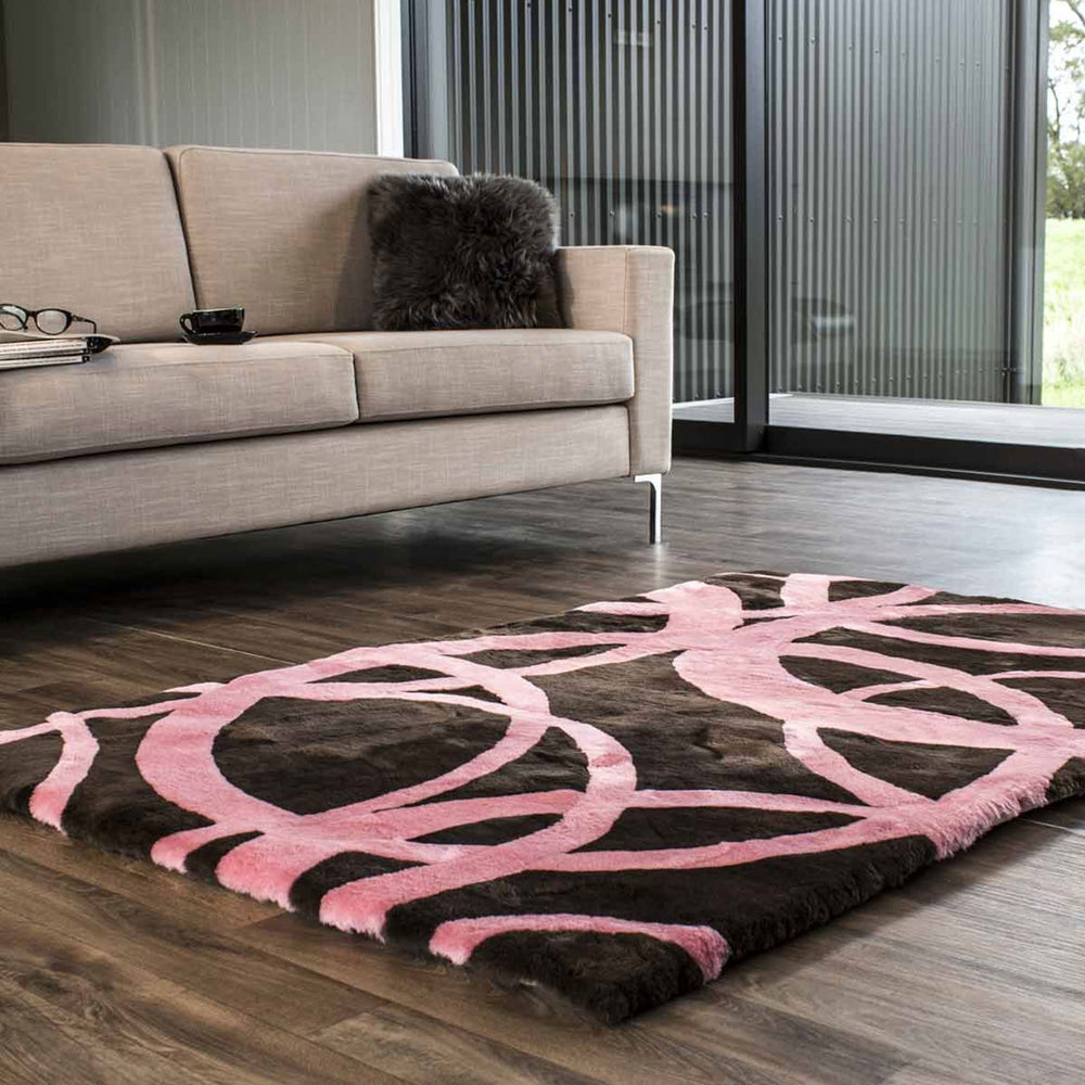 Load image into Gallery viewer, Traverse Shortwool Design Rug - Marshmallow/Java