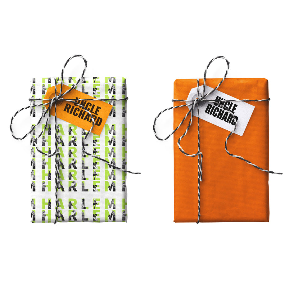Harlem World Double-sided Gift Wrap (STONE PAPER)