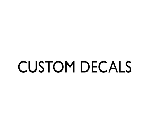 Custom Designed Decals