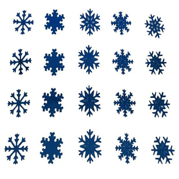 Blue Holographic Snowflakes