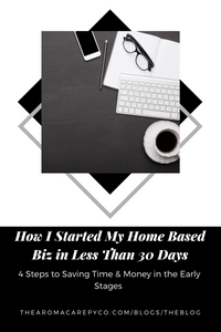 How I Started My Home Based Biz in Less Than 30 Days