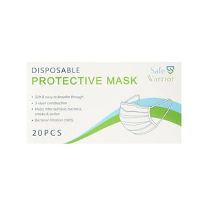 Disposable Protective Face Mask (20 count)