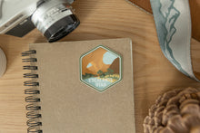 Load image into Gallery viewer, Escalante utah sticker on notebook and wood background