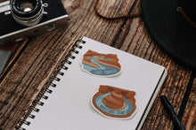 Load image into Gallery viewer, Wildtree Lake Powell Sticker and Horseshoe bend sticker sitting on notepad