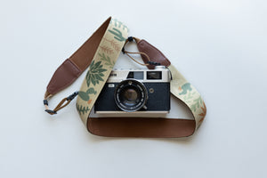 Wild desert camera strap brown backing floral design
