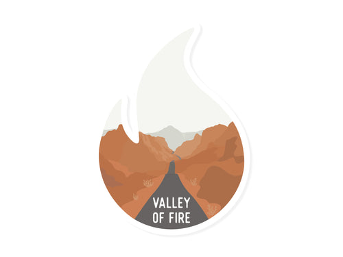 Wildtree Valley of Fire State Park Sticker Graphic