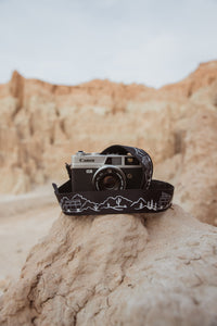 Wildtree camera strap desert background