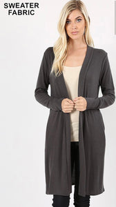 Open Front Line Cardigan