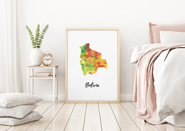 Bolivia Illustrated Map