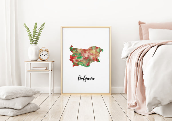 Bulgaria Illustrated Map