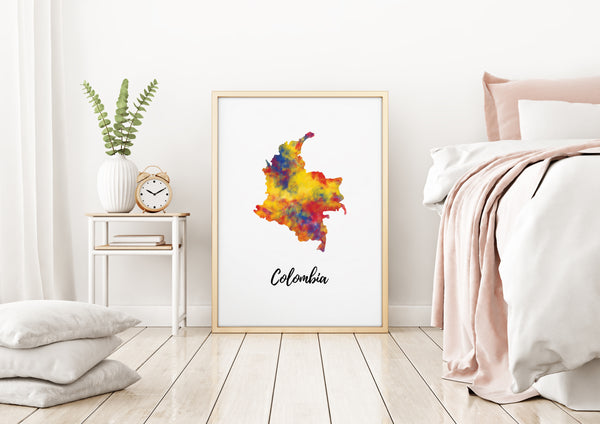 Colombia Illustrated Map