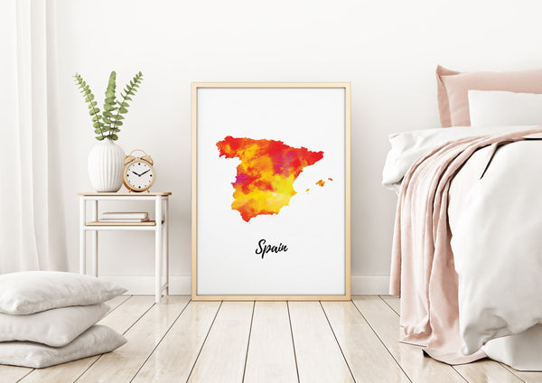 Spain Illustrated Map