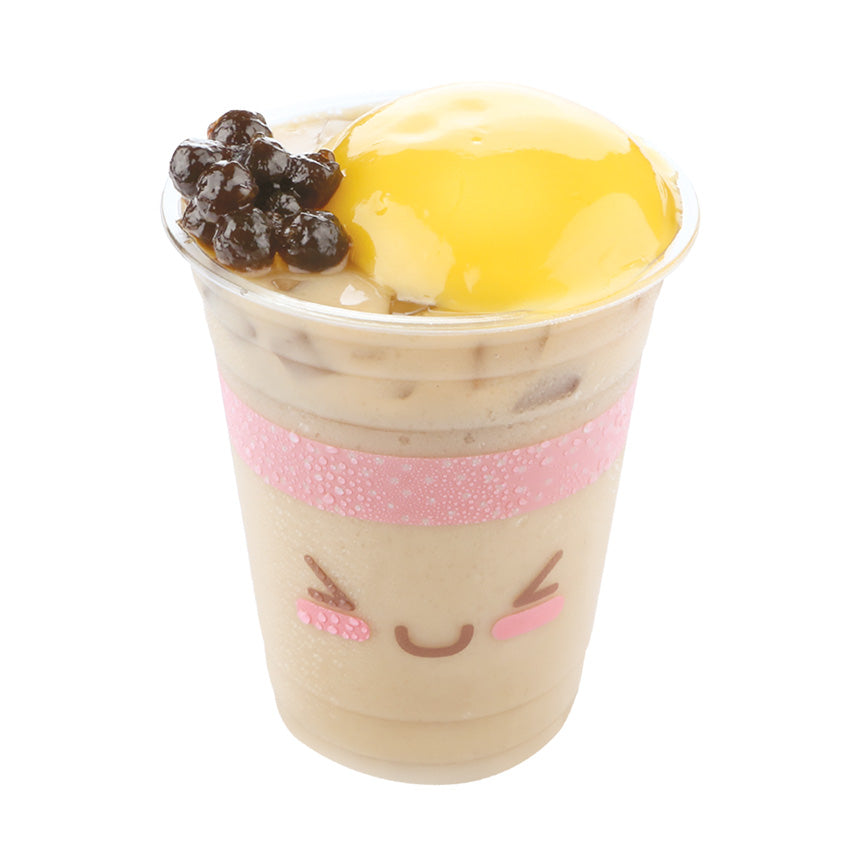 Royal Milk Tea with Egg Pudding & Bubbles (Large)