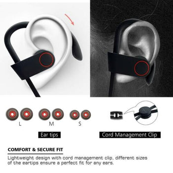Waterproof Bluetooth Earbuds Sports Wireless Headphones in Ear Headsets USA