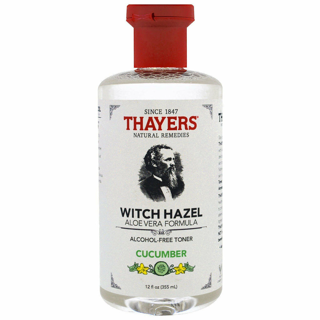 Thayer's Witch Hazel Aloe Vera Formula Alcohol-Free Skin Toner CUCUMBER 12 oz