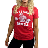 Westside Barbell T-Shirt für Frauen in Rot
