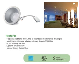 8″ 45W LED Architectural Downlight