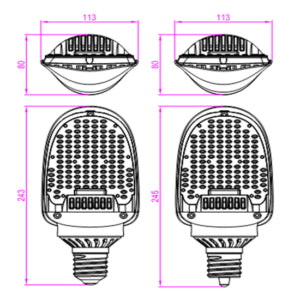 27 WATTS FLAT LED CORN BULB (RETROFIT KIT)