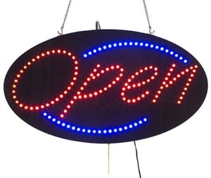 "LED commercial ""OPEN"" signs"