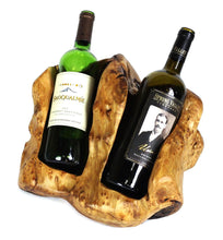 Load image into Gallery viewer, Wine Bottle Holder, Wood, Hand-Crafted, 2 Bottle - Floral Acres Greenhouse & Garden Centre